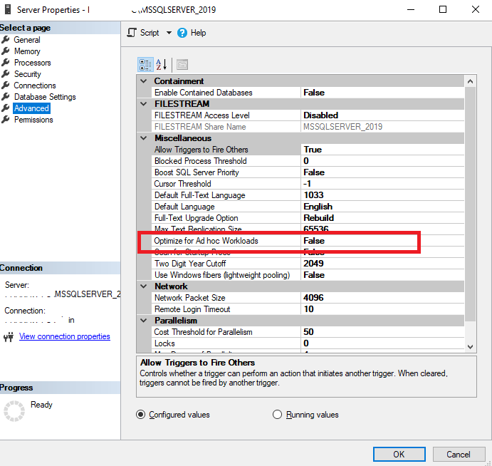 Optimize for Adhc Workload